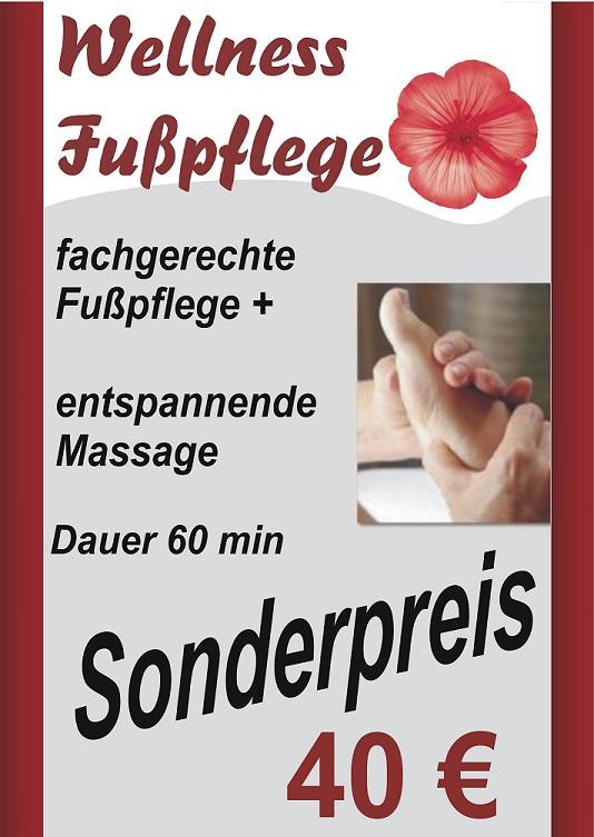 Angebot Fußpflege - Podologie Welness Klein