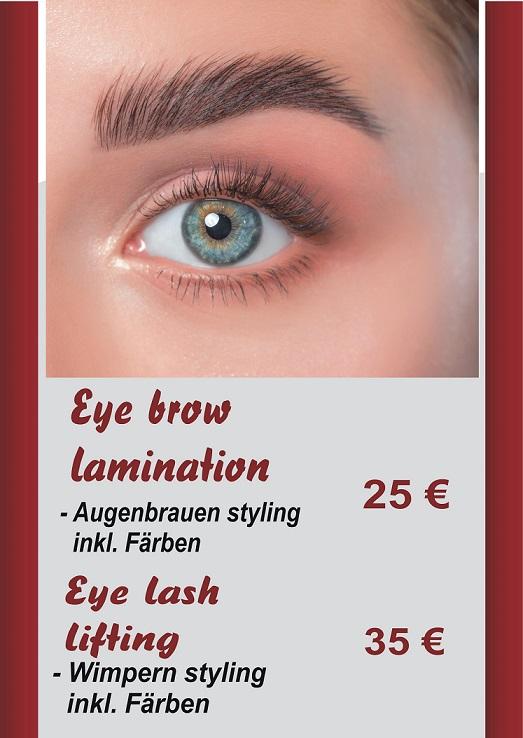 Augenbrauen und Wimpern Styling